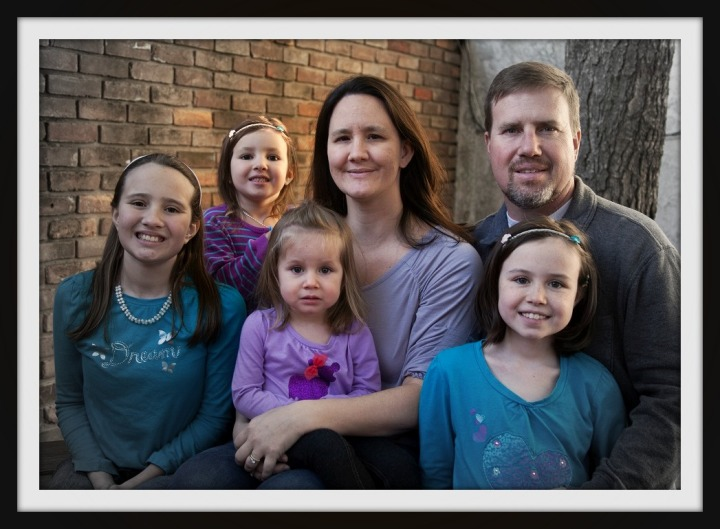 Jennifer and her sweet family Carli (11), Hannah (6), Lilly (3), husband Keith, and Maddie (10).  When James Asa was born, Carli was 5 and Maddie was 4.