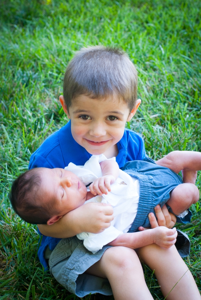 Big Brother Aaron, who has flawlessly given up his role as baby of the family and embraced all the helpfulness of a big brother who constantly makes sure Samuel has all that he needs.